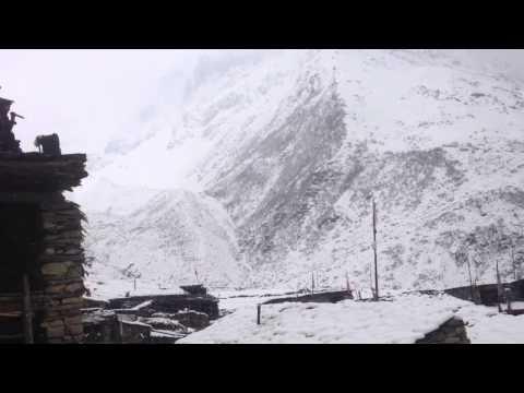 Tibetan Nepalese style karaoke amazing moment singing in the snow