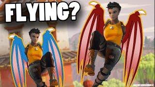 FLYING IN FORTNITE? DRAGON'S WINGS NEW ITEM?   Fortnite Battle Royale Flying Update