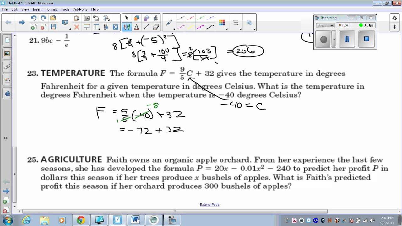 Algebra Refresher HW Tutorial - YouTube