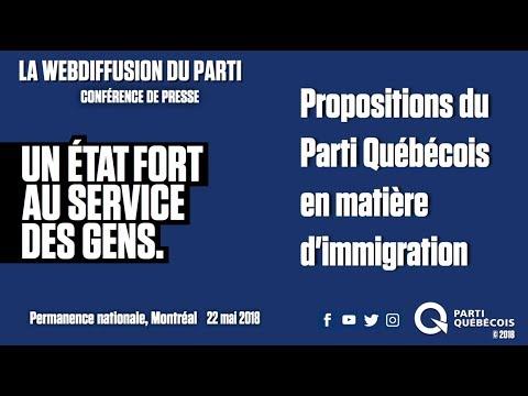 Propositions du Parti Québécois en matière d'immigration