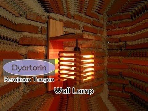 KEREN!!! Lampu dinding gantung dari kayu