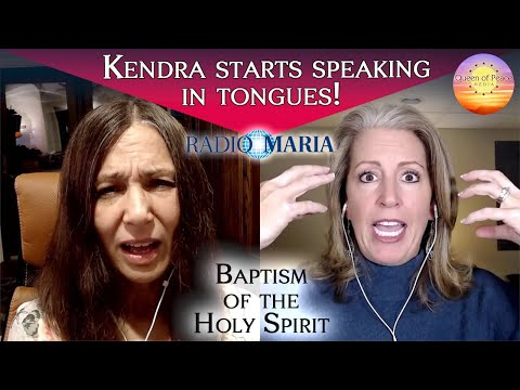 Kendra gets slain and baptized in the Holy Spirit and starts speaking in tongues!