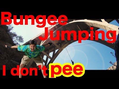 おしっこ我慢してバンジージャンプ Bungee jumping.and I don't pee.