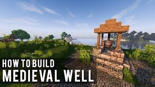 minecraft well medieval build