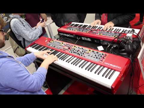 Musikmesse 2015 - Nord Stage 2 EX Demo.