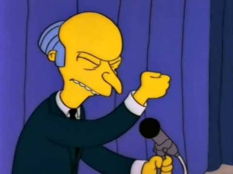 """Mr. Burns -  """"personal thumbs up"""""""