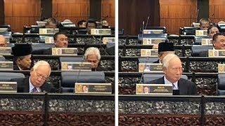 Najib's reaction during mid-term review speech draw attention from MPs