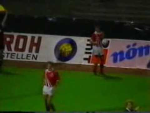 Faroes - Austria 1:0. Euro-92. TORKIL SKORAR!!!