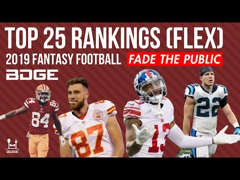 Top 25 Overall (Flex) Rankings For 2019 Fantasy Football