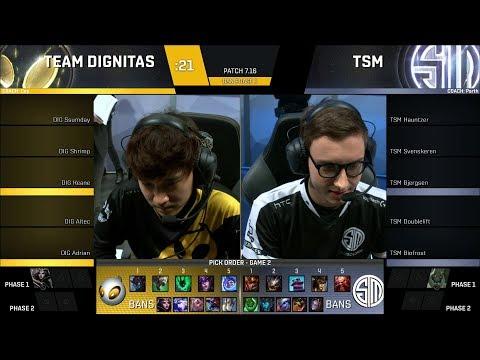 TSM vs DIG Game 3 - 2017 NA LCS Summer SemiFinals - Team SoloMid vs Team Dignitas