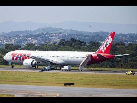 """Avião da Latam """"aborta"""" decolagem em São Paulo"""