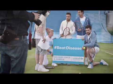 Andy Murray, Liam Payne, Clare Balding and Jack Whitehall team up with UNICEF in comedy tennis sketc