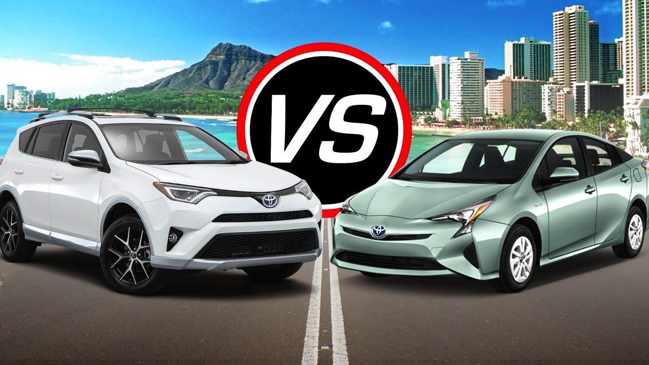 2016 Toyota Rav4 Hybrid Vs Prius Spec Comparison