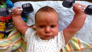 BEST FUNNY The Funniest Cute Baby Workout | Funny Vines Compilation