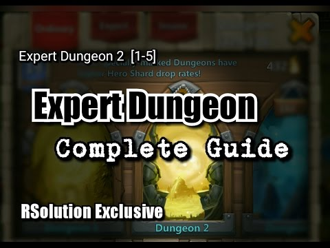 Castle Clash : Expert Dungeon 2 [1-5] ✮ Complete Guide✮