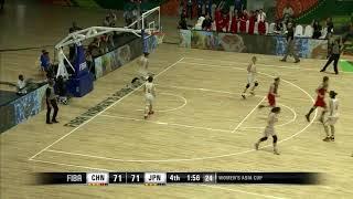 FIBA女子アジアカップ2017-China vs Japan 日本大逆転 Japan 14-2 run to the final