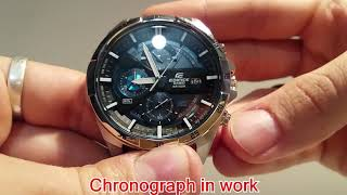 Casio Edifice EFR-556L-1A Set time and chronograph