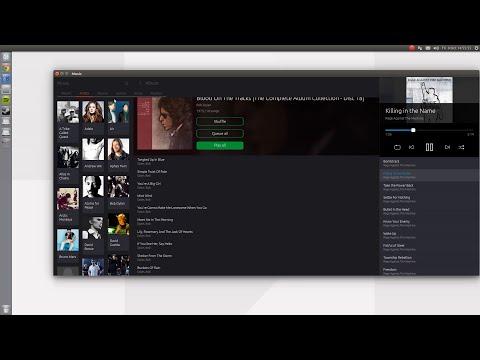 Ubuntu Music App - adaptive layout