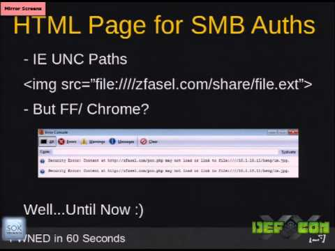 DEF CON 20 - Zack Fasel - Owned in 60 Seconds: From Network Guest to Windows Domain Admin