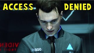 Connor Trying Hard To Find Hank's F#cking Password - Detroit Become Human