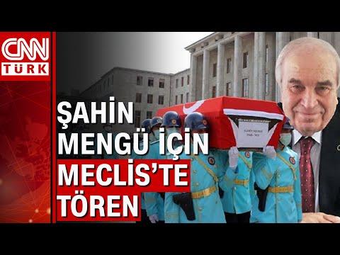 Nevşin Mengü'nün babası eski vekil Şahin Mengü, TBMM'den son yolculuğuna uğurlandı