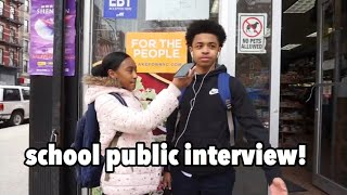 School Public Interview! (Harlem or Bronx, Puerto Ricans or Dominicans, Soul Food or Spanish Food)