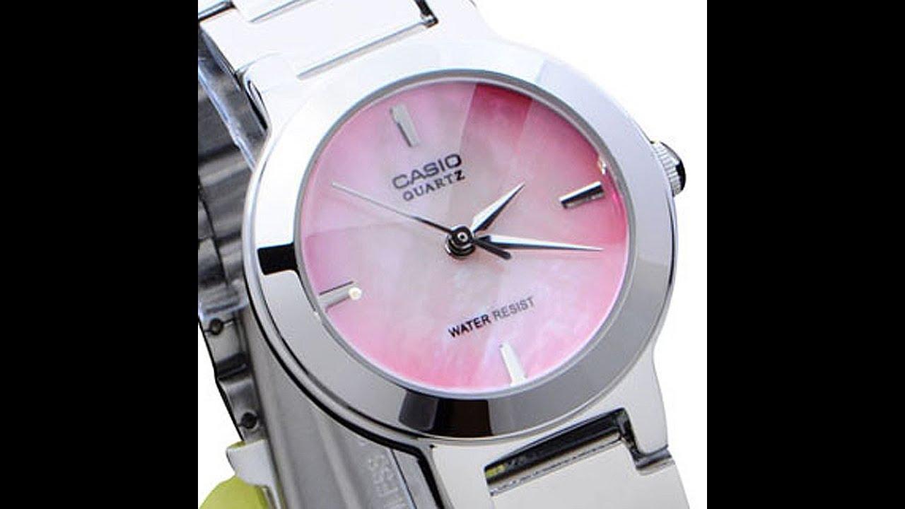 Collection Casio Women's LTP1191A-4C Silver-Tone Pink Dial Analog Quartz  Watch