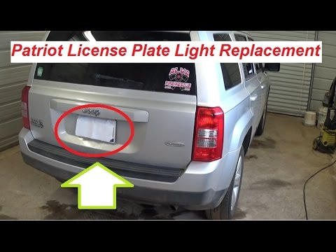 hqdefault jeep patriot tag light license plate light replacement 2007 jeep patriot fuse box location at reclaimingppi.co