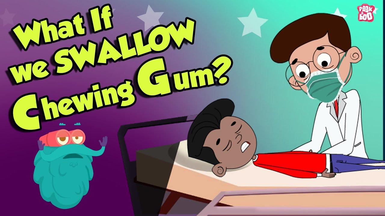 Download What If We Swallow Chewing Gum? | Swallowing Bubble GUM | Dr Binocs Show | Peekaboo Kidz