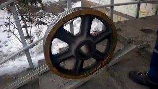 Замена канатоведущего шкива в лифте