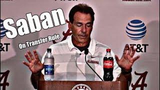 Alabama Crimson Tide Football: Nick Saban on NCAA Transfer Rule