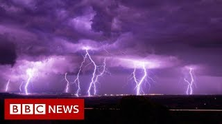 Violent Greek storm caught on camera - BBC News