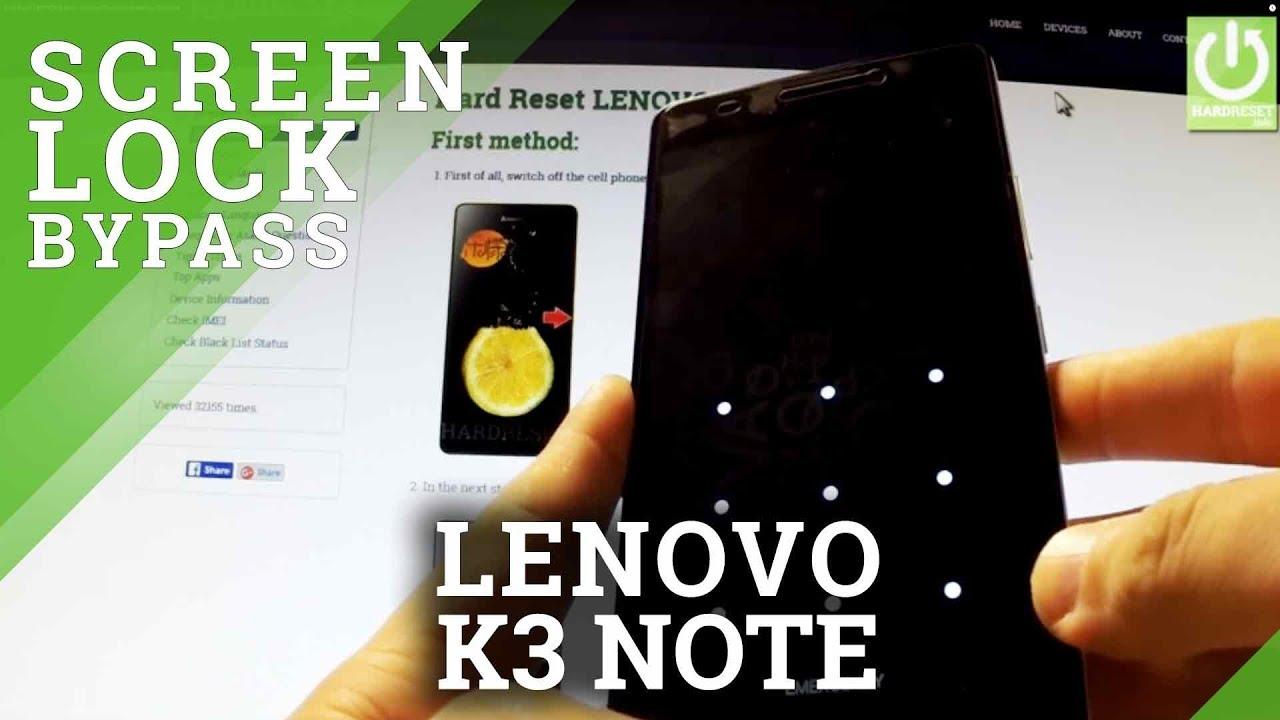 Hard Reset LENOVO K3 Note - HardReset info