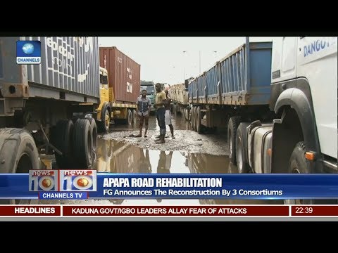News@10: FG Announces The Reconstruction Of Apapa Road By 3 Consortiums 17/06/17 Pt. 3