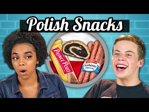 TEENS EAT POLISH SNACKS! | Teens Vs. Food