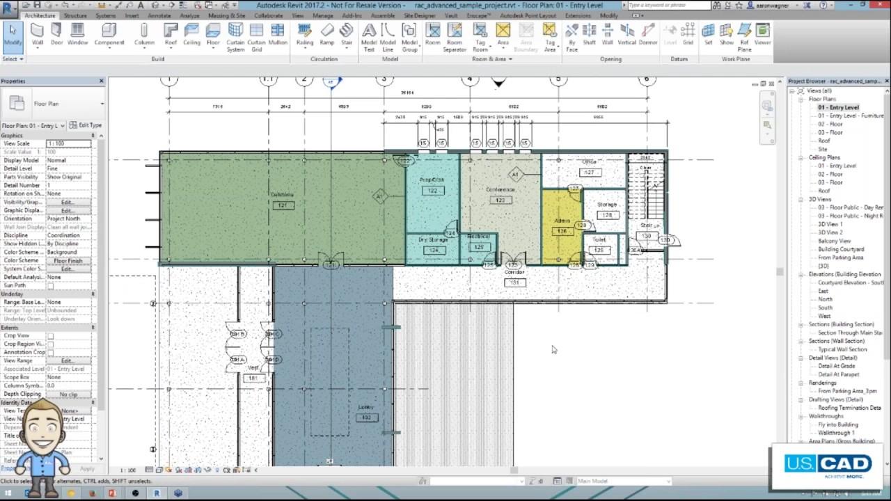 Revit Elevation Key Plan : From autocad to revit creating color schemed floor plan