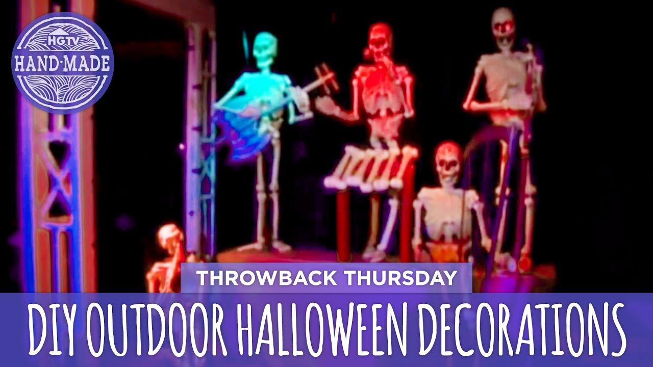 diy outdoor halloween decorations throwback thursday hgtv handmade - Hgtv Halloween Decorations