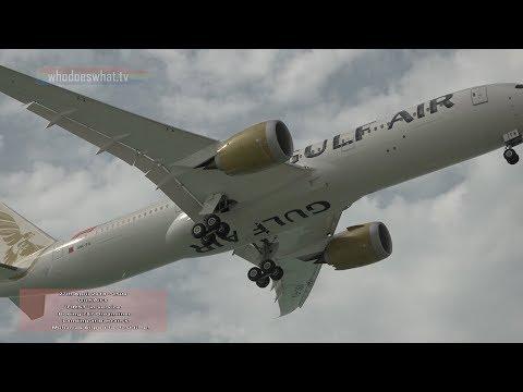 Gulf Air's First Boeing 787 Dreamliner lands at Bahrain International Airport