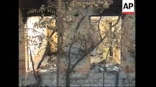 WRAP Morning scenes, damage in Gori, damage to village, displaced people