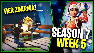 WHERE is the THIRD FREE TIER FOR SEASON 7 (Week 5)-Fortnite Battle Royale CZ/SK