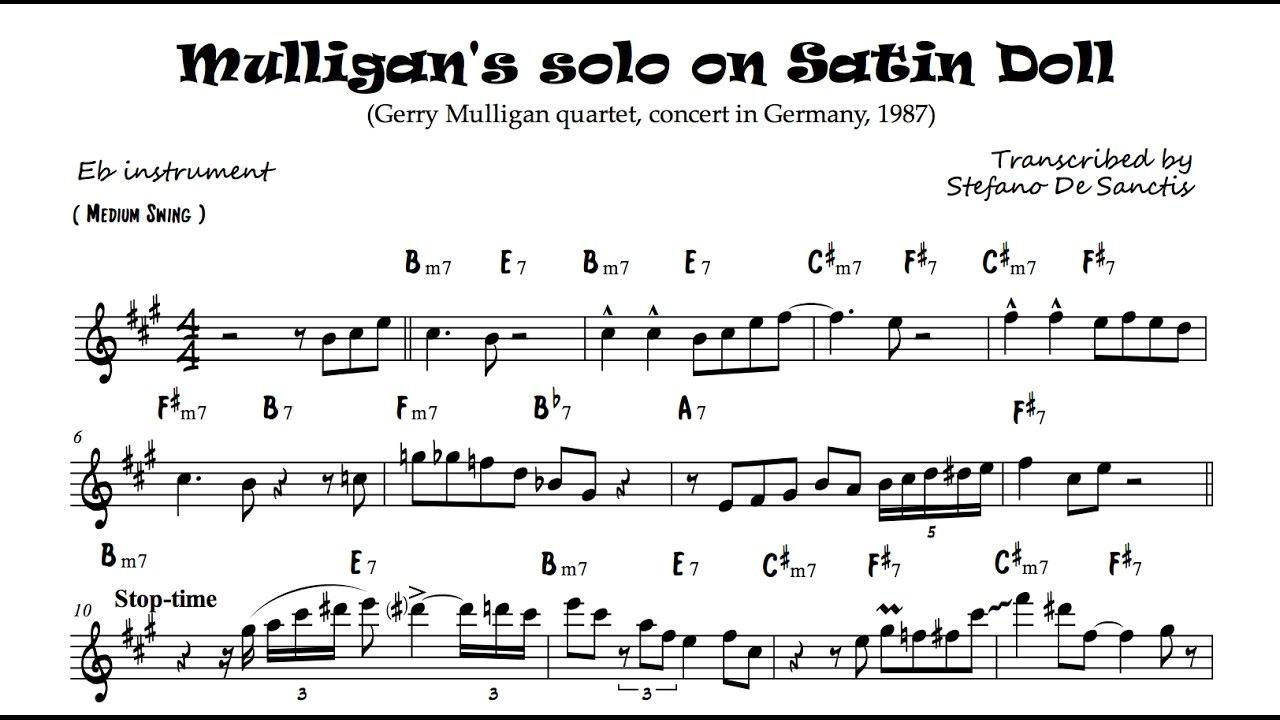 Gerry Mulligan's solo transcription on Satin Do