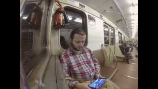 In the Moscow subway car 81-717/714. GoPro 3