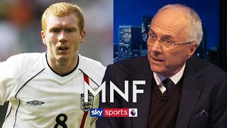 Sven-Göran Eriksson explains why he played Paul Scholes out wide for England
