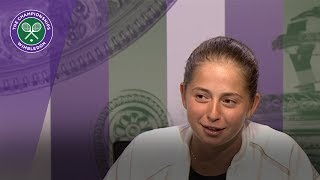 Jelena Ostapenko Wimbledon 2017 fourth round press conference
