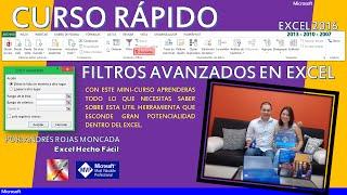 Presentación curso – Filtros avanzados en Excel