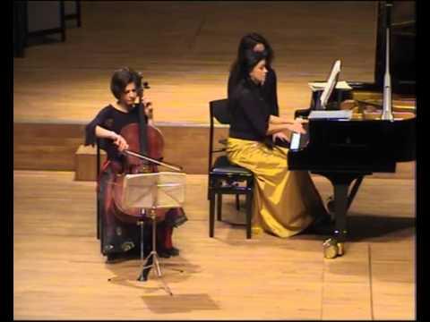 Debussy Sonata for cello and piano. Timora Rosler - cello and Klára Würtz - piano