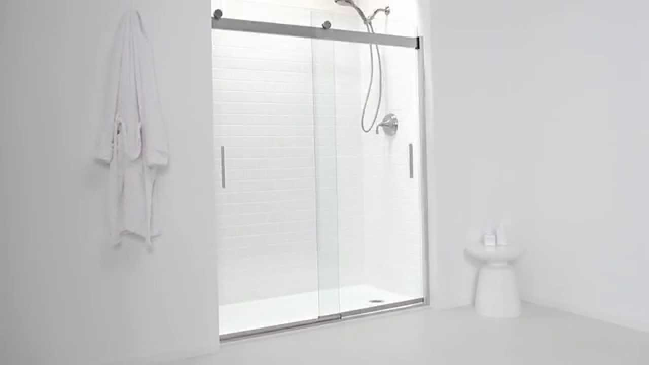 Great Kohler Levity Shower Door   YouTube