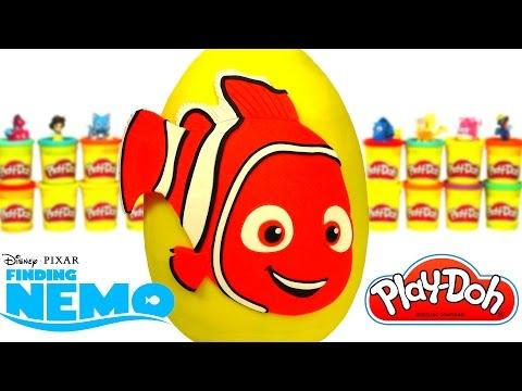 Huevo Sorpresa Gigante de Buscando a Nemo en Español de Plastilina Play Doh