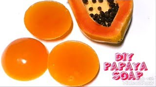 Homemade Papaya Soap / Skin Whitening Soap / How to make papaya soap at home/ Anti - wrinkle soap.