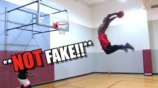 "6'1"" Anthony Hamilton Has MEGA Bounce! Sick Dunk Session w/ BRuff!"